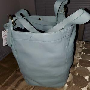 Vintage Coach Tote Handbag.